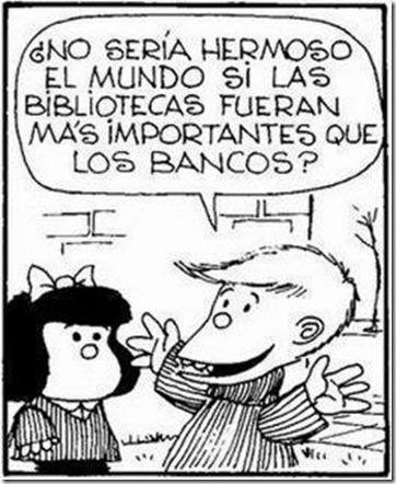 Mafalda y la biblioteca