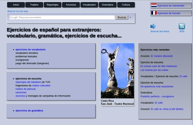 Ejercícios de Español para Extranjeros