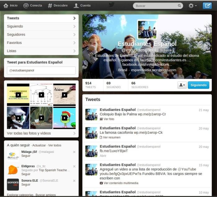 Español al Día en Twitter