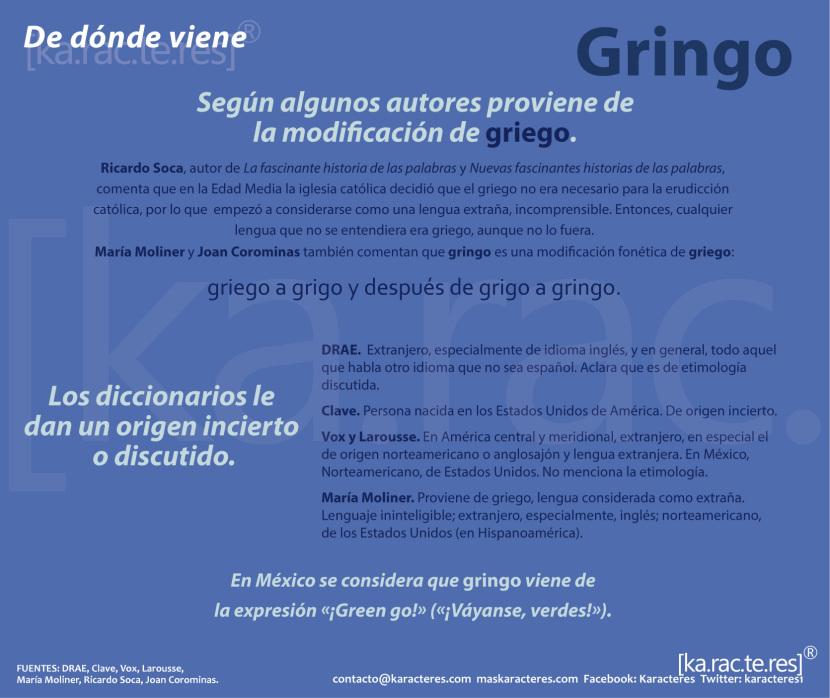 Cu l es el origen de la palabra gringo espa ol al d a for De que lengua proviene la palabra jardin