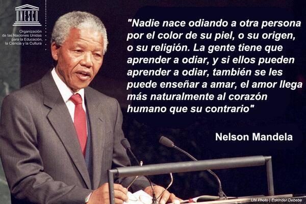 Nelson Mandela y el odio