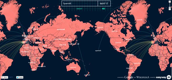 Mapa Mundial Idiomático